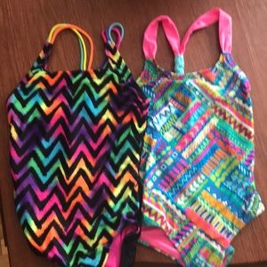 Two girls bathing suits.
